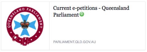 QLD E-petition